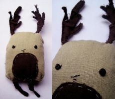 antler plushie dude by Ungat-trunn