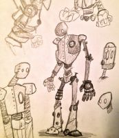 REALLY OLD robots by SquidHatJenkins