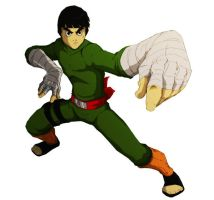 rock lee colored by Anny-D