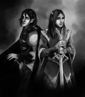 Commission: Jurre and Arye by fee-absinthe