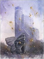 The three wings and skyscraper by sanderus