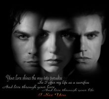 I See You Damon,Elena,Stefan by SmartyPie