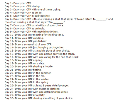 30 Day OTP Challenge by Destiny-MoonFire
