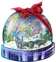 :SNOW GLOBE: Xerneas by shadowhatesomochao