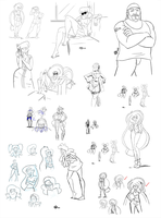 November 2013 Tumblr Sketch Dump by cmbarnes