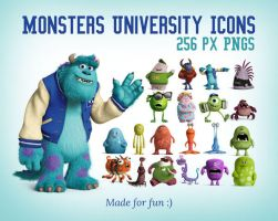Free Monsters University Icons 256px PNGs by Designbolts