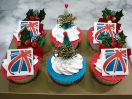 English Christmas Cupcakes by Sliceofcake