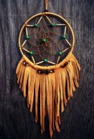 Dream Catcher with Leather Fringe by xsaraphanelia