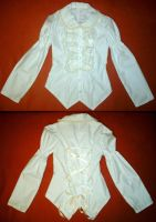 White Lacing Blouse by kawaii-nia