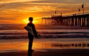 Pismo Beach Surfer SunsetOne by robgbob