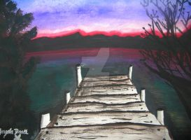 sunset watercolor by angelwith1morea15