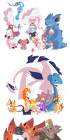 PKMN Trainers with kawaii eyes - Part #2 by Hetaloid