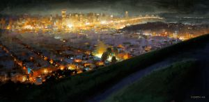 from bernal after sunset by turningshadow