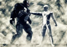 Spiderman F F vs Venom by hiram67