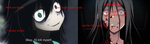 Sachiko and Tomoko Comparison by EmmasVarietyArts