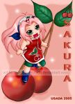 Chibi Fruit Ninja-Sakura by Red-Priest-Usada