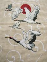 Red Crowned Cranes by Fairytale-Heart