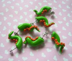 Tentacle Earrings - Commission by CantankerousCupcake