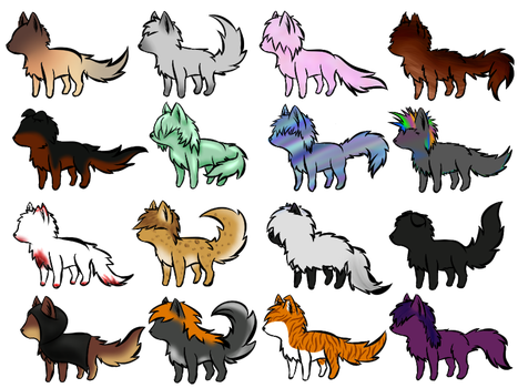Free Wolf Adopts! by SockTheSheep