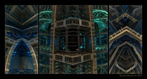 Modern architecture from the 24th century by arteandreas