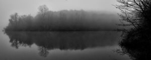 Cold and Fog by the lake by TanBekdemir