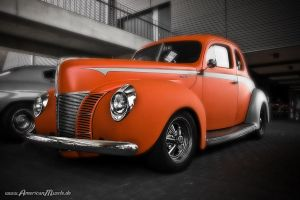 orange ford hot rod by AmericanMuscle