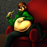 Drunk and stuffed Again by SillyEwe
