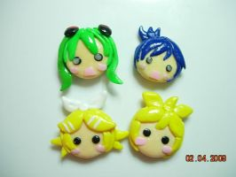 Vocaloid Clay magnets by jaysanzo