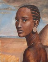African Head by dashinvaine