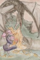 Alduin vs. Twilight Sparkle by SpyroConspirator