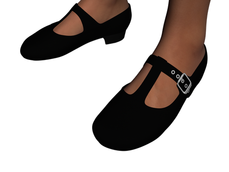 Mary Jane Shoes (T-Strap) for Genesis 3 Female by amyaimei