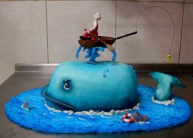 whale cake by wigur