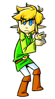Link Doing A Thing by Katfuzzmunchkin