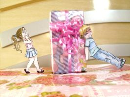 A very big gift. paper child by Lil-melody