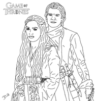 Cersei and Jaime Lannister by DoranBladefist