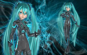 Cyber Miku by Primantis