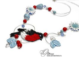 "Necklace ""Winter's Tale "" by OrionaJewelry"