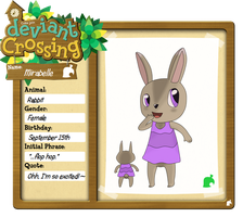 DeviantCrossing App: Mirabelle the Rabbit by Tragodile