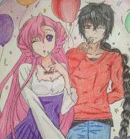 Euphemia and Judal by iLoveAnimecx