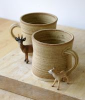 Set of two handmade tea mugs by scarlet1800