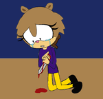 Sandy Stabbed by YoniD3010