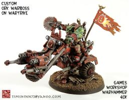 Warhammer 40k Ork Warboss Bike by timshinn73