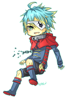 chibi commision: cael by Bunnyhana