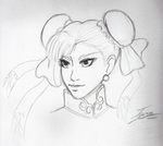 Chun-Li pencil work by Mayleth