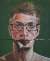 Self portrait oil by RamenRamen