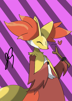 Delphox Cute by RenaSpyro