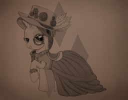 Steampunk Rarity by chirin98