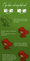Hair coloring tutorial by CajesTheTabby