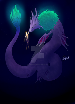 Alpennaveous the ancient creature of the deep by DannyHartArt