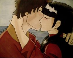 Zuko And Mai Kissing by BrandiRoss